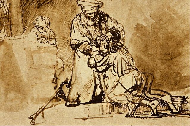 Return of the Prodigal Son Rembrant sketch
